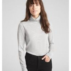 NEW Gap Gray Turtleneck Merino Wool Sweater Small